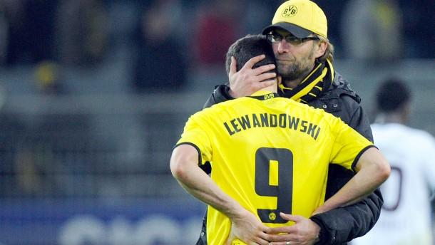 Robert Lewandowski und Jürgen Klopp