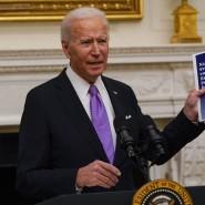 Der amerikanische Präsident Joe Biden am 21. Januar im Weißen Haus bei der Vorstellung seines Corona-Aktionsplans