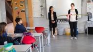 Immer schön Abstand halten: Unterricht am 4. Mai in einer Grundschulklasse in Hamburg.