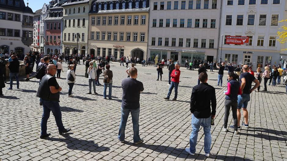 Protest gegen Corona-Regeln in Gera