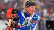Auch bei der WM in Oslo bleibt Marie Dorin Habert noch genügend Zeit für die Familie.