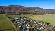 Lügde: Blick auf den Campingplatz Eichwald