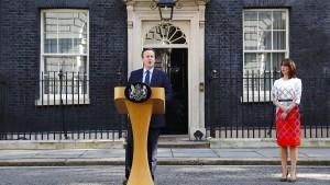 Cameron sieht keinen Grund für schnellen Brexit