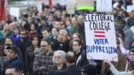 Amerikaner protestieren gegen ihr Wahlsystem