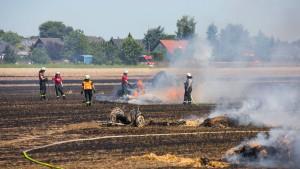 Trockenheit löst zwei Flächenbrände aus