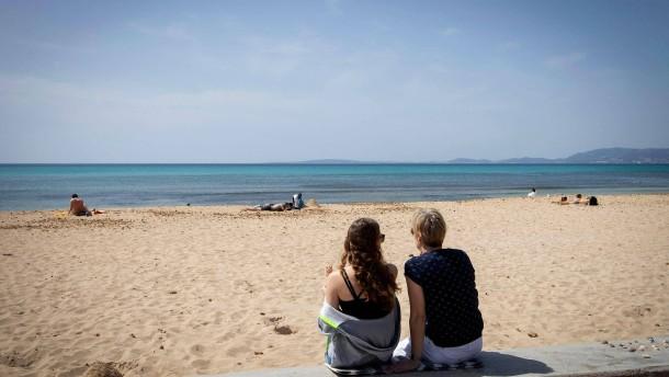 Maskenpflicht am Mallorca-Strand