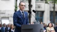 Heiko Maas während der Gedenkfeier des gescheiterten Attentats auf Hitler vor 74 Jahren in Berlin