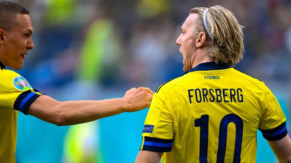 Doppelter Torschütze für die Schweden: Der Leipziger Emil Forsberg