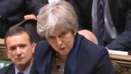 Theresa May hat im Unterhaus eine Niederlage einstecken müssen.