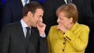 Verstehen sich, haben aber viel zu besprechen: Macron und Merkel – hier beim EU-Meeting im vergangen Dezember in Brüssel.