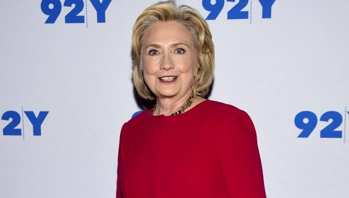 Die frühere First Lady der Vereinigten Staaten, Hillary Clinton, bei einem Auftritt im Kulturzentrum 92nd Street in New York