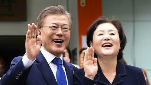Linkspolitiker Moon gewinnt Präsidentenwahl in Südkorea