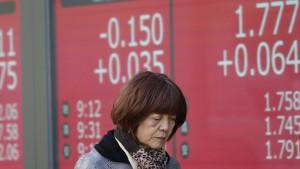 Japans Export schrumpft und schrumpft