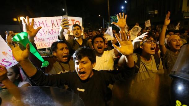 Proteste gegen ehemaligen Präsidenten Perus