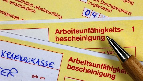 Die gelben Zettel für die Krankmeldung werden abgeschafft