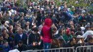 Flüchtlinge vor dem Berliner Lageso im September vergangenen Jahres