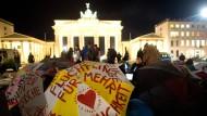 Protest am Brandenburger Tor