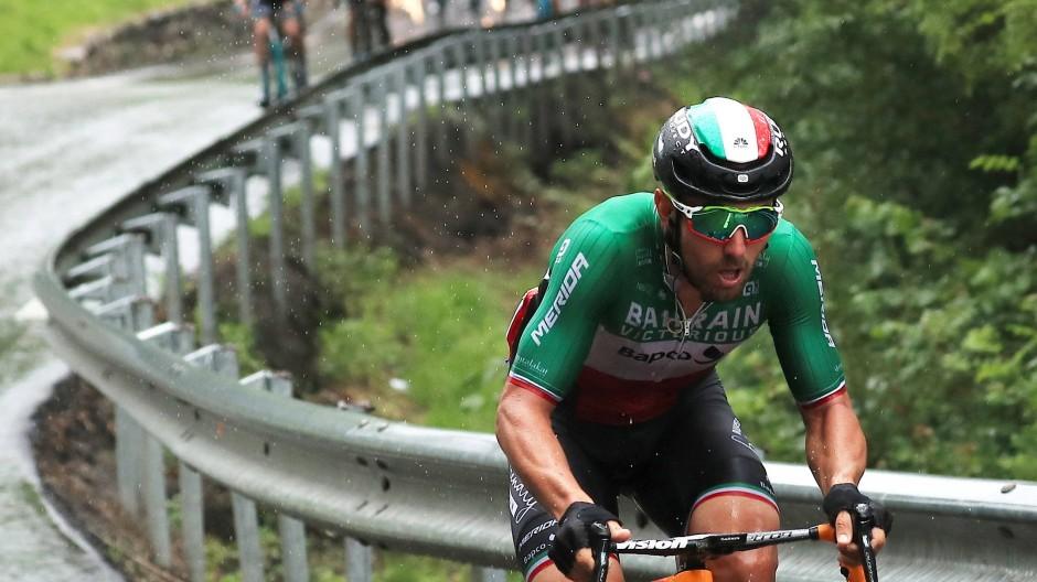 """Erstaunliche Leistungen: Der italienische Sprinter Sonny Colbrelli von """"Bahrain Victorious"""""""
