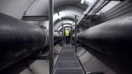 Tunnelblick: Fernwärme durchzieht die Mainmetropole auf von oben unsichtbaren Wegen.