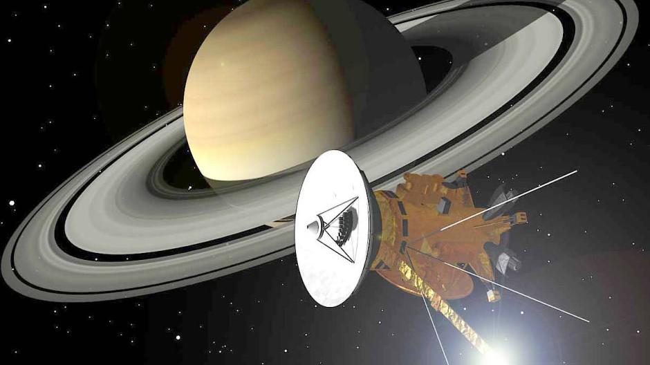 Abschied nach 13 Jahren Forschungstätigkeit: Am Freitag verglüht Cassini.