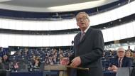 Nach ihm benannt: EU-Kommissionspräsident erklärt 2014 seine Pläne zur Schließung der vermeintlichen Investitionslücke.