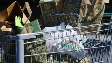 Plastiktüten sollen in kalifornischen Einkaufswägen künftig kaum mehr zu sehen sein
