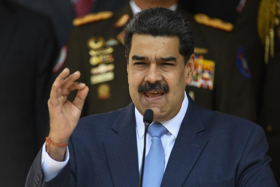 Nicolas Maduro bei einer Pressekonferenz im März 2020