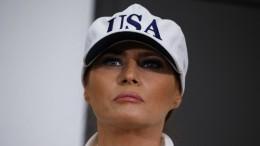 Rauch zwingt Flugzeug von Melania Trump zur Rückkehr