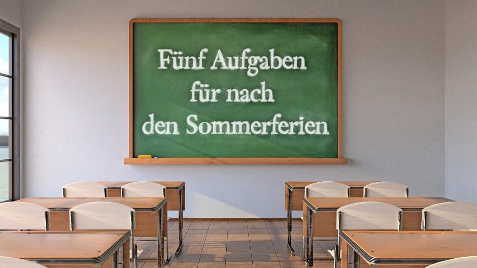 Die Kultuspolitik und Schulen haben Hausaufgaben bekommen.