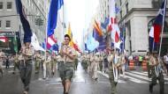 Boy Scouts suchen nach dem Pfad