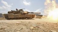 Abrams-M1-Panzer im Gefecht