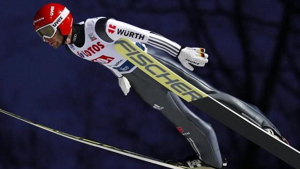 Deutschen Skispringer gehen leer aus