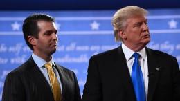 Trumps Sohn hatte während des Wahlkampfs Kontakt zu Wikileaks