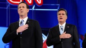 Romney und Santorum liefern sich hitzigen Schlagabtausch