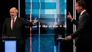 Im TV-Duell schmilzt Johnsons Vorsprung