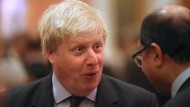 Boris Johnson am Mittwochabend im Buckingham Palace in London