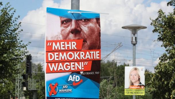 AfD wirbt in Brandenburg mit Willy Brandt