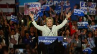 Hillary Clinton am Dienstagabend in Miami