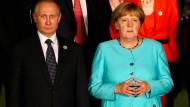 Merkel will für weitere Sanktionen gegen Russland werben