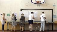 Niedrige Beteiligung  bei Parlamentswahl