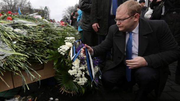 Urmas Paet am 25. Februar in Kiew