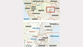 Infografik / Karte / Ruanda / Kigali