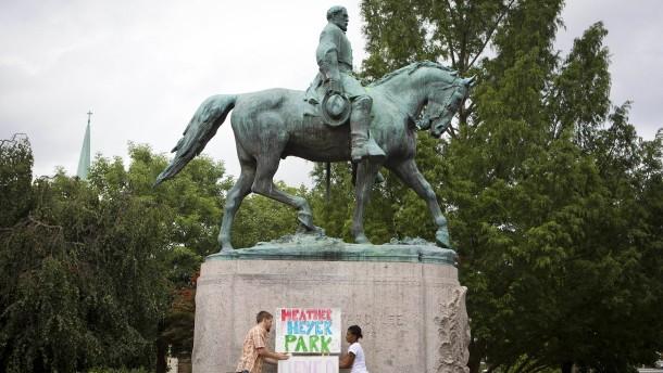 Bürgerkriegsdenkmäler spalten Amerika