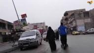 Straßenszene aus Raqqa, Screenshot aus dem auf der Internetseite von Expressen veröffentlichten Video