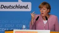 Bei Ihrer Rede erklärte die Kanzlerin, warum Steuersenkungen erst mal nicht möglich sind.
