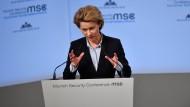 Verteidigungsministerin Ursula von der Leyen am Freitag auf der Sicherheitskonferenz in München.