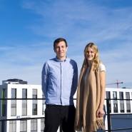 Hoch hinaus: Maximilian Felsner und Zarah Bruhn haben schon im Studium ein Unternehmen gegründet.