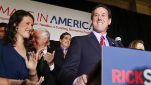 Santorum gewinnt in drei Bundesstaaten