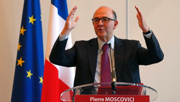 France's Finance Minister Pierre Moscovici speaks during a news conference at the Economy Ministry in Paris