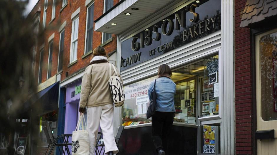 """""""Gibson's Food Mart and Bakery"""" in Oberlin: Klein und unscheinbar."""